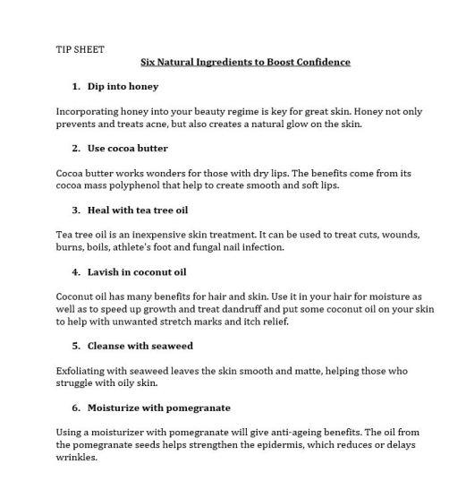 tip-sheet